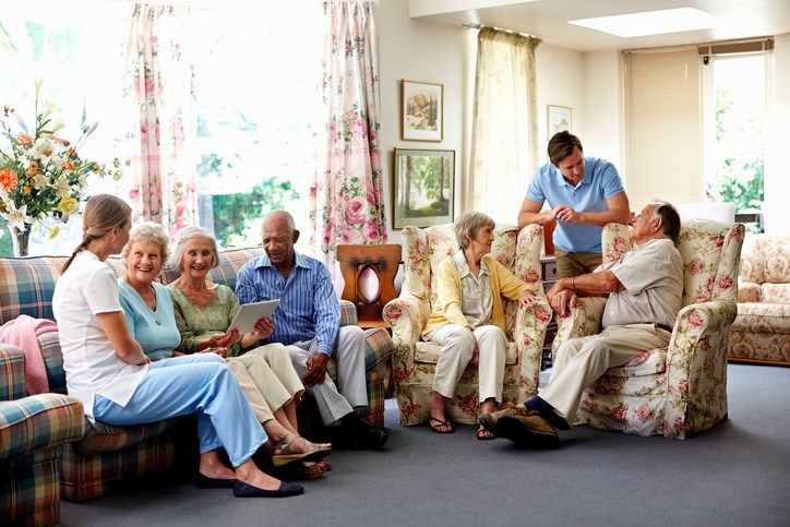 Social interaction improved patients' quality of life and eased their agitation.