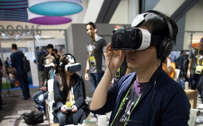 The Oculus Rift headset in use. Image courtesy of Oculus Rift.
