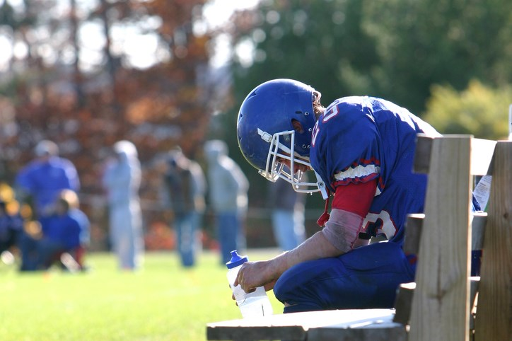 Level of S100B up after sports-related concussion, especially within 4 hours of concussion.