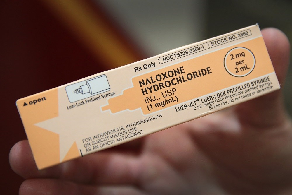 One trial found that lower-concentration intranasal naloxone was less effective than intramuscular naloxone.
